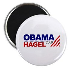 Obama Hagel 08 Magnet
