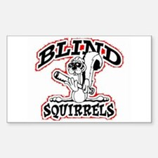 BS Rectangle Sticker Red/White