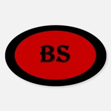 BS Red Oval Decal