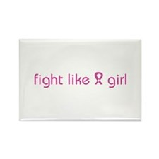 Fight Like a Girl Rectangle Magnet (10 pack)