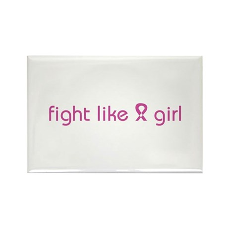 Fight Like a Girl Rectangle Magnet (100 pack)