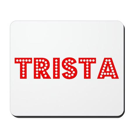 Retro Trista (Red) Mousepad