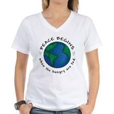 Peace Begins When The Hungry Are Fed Shirt