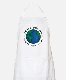 Peace Begins When The Hungry Are Fed BBQ Apron