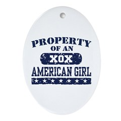 Property of an American Girl Oval Ornament