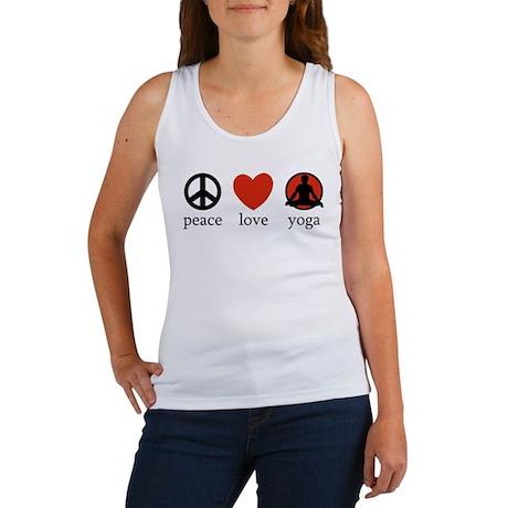Peace Love Yoga Women's Tank Top