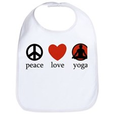 Peace Love Yoga Bib