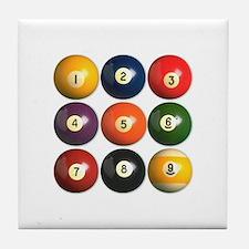 Billiard Balls Tile Coaster