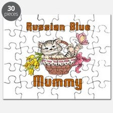 Russian Blue Cats Mummy Puzzle