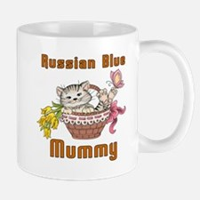 Russian Blue Cats Mummy Mug