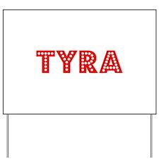 Retro Tyra (Red) Yard Sign