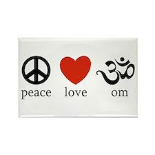 Peace Love Om Rectangle Magnet