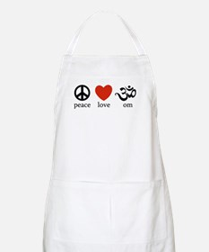 Peace Love Om BBQ Apron