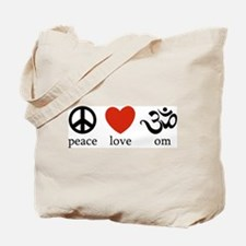 Peace Love Om Tote Bag