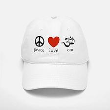 Peace Love Om Baseball Baseball Cap