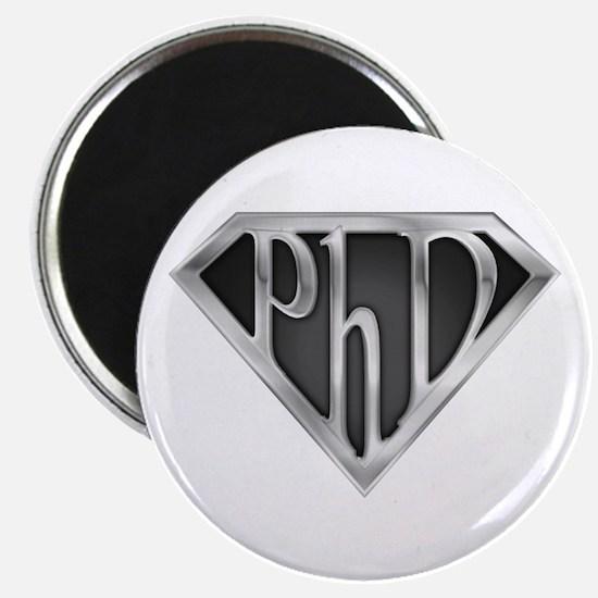 "Super PhD - metal 2.25"" Magnet (10 pack)"