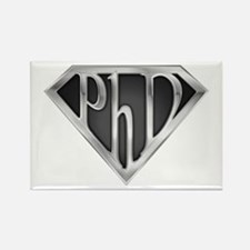 Super PhD - metal Rectangle Magnet