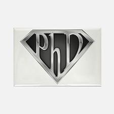 Super PhD - metal Rectangle Magnet