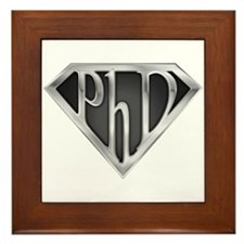 Super PhD - metal Framed Tile