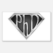 Super PhD - metal Rectangle Decal