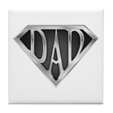 SuperDad - Metal Tile Coaster