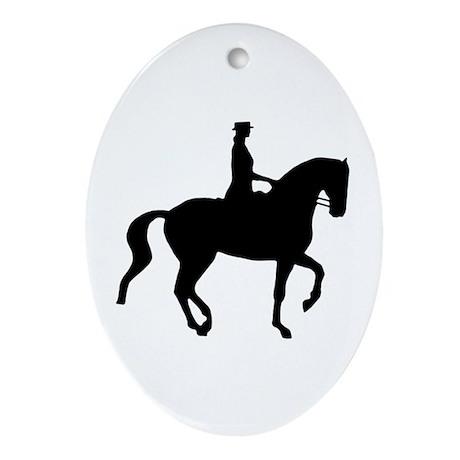Piaffe Equestrian Oval Ornament
