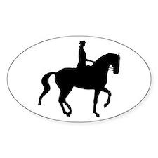 Piaffe Equestrian Oval Decal