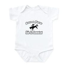 """Save Horse, Ride Accountant"" Infant Bodysuit"