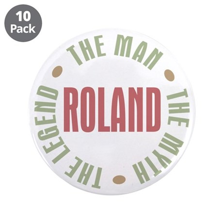 "Roland Man Myth Legend 3.5"" Button (10 pack)"