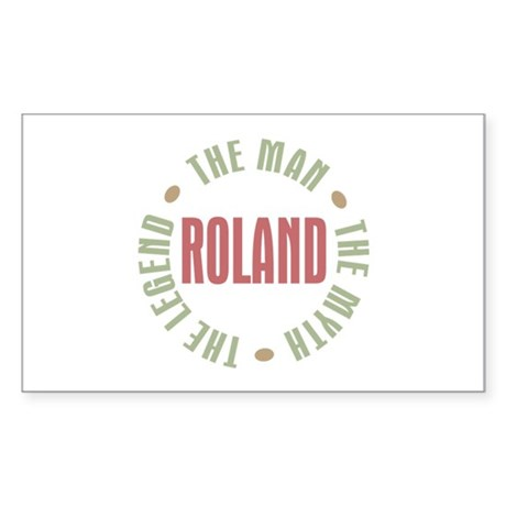 Roland Man Myth Legend Rectangle Sticker