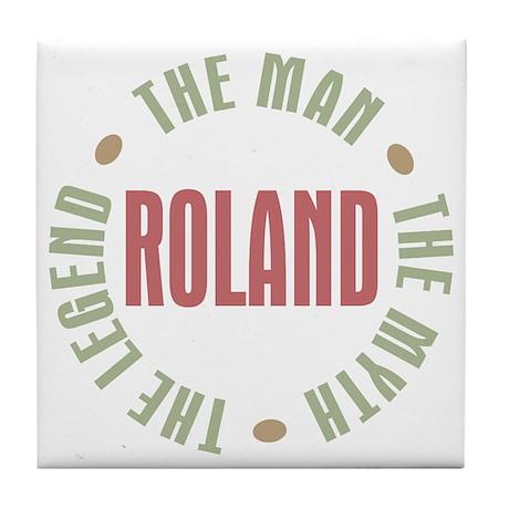 Roland Man Myth Legend Tile Coaster