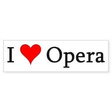 I Love Opera Bumper Bumper Sticker