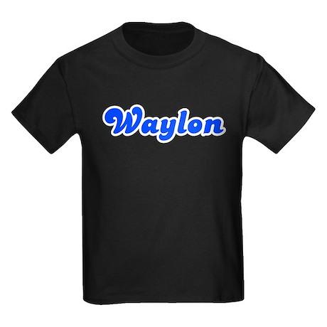 Retro Waylon (Blue) Kids Dark T-Shirt