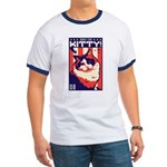 Obey the Kitty! USA Ragdoll Cat Ringer T-shirt