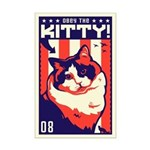 Obey the KITTY! USA Mini Poster Print