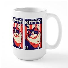 Obey the Kitty! USA Ragdoll Cat Large Mug