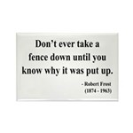 Robert Frost 17 Rectangle Magnet (10 pack)