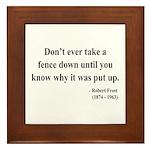 Robert Frost 17 Framed Tile