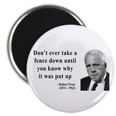 """Robert Frost Quote 17 2.25"""" Magnet (100 pack)"""