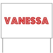 Retro Vanessa (Red) Yard Sign