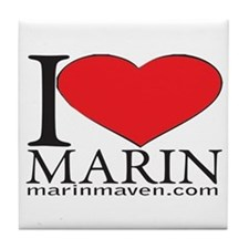 I LOVE MARIN Tile Coaster