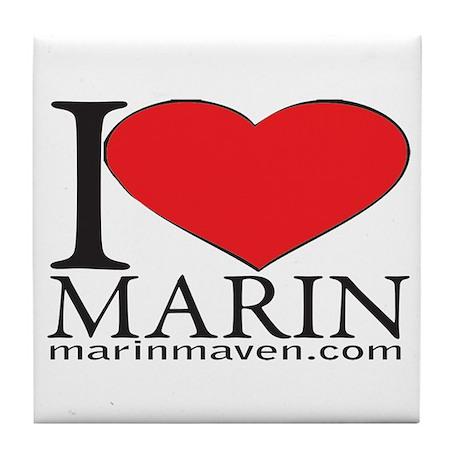 I LOVE MARIN Tile Coaster