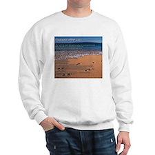 Footprints in the Sand Sweatshirt