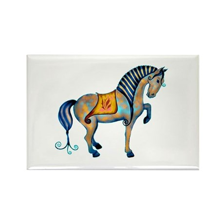 Tang Horse Two Rectangle Magnet