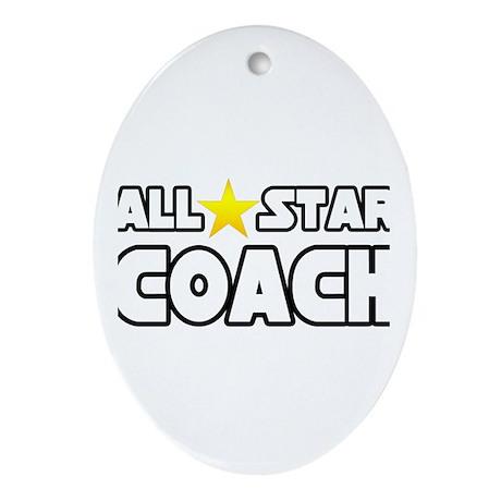 """All Star Coach"" Oval Ornament"