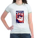Obey the KITTY! USA Jr. Ringer Cat T-Shirt