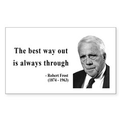 Robert Frost Quote 16 Rectangle Decal