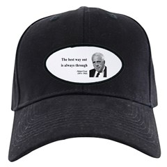 Robert Frost Quote 16 Baseball Hat