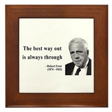 Robert Frost Quote 16 Framed Tile