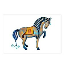 Tang Horse Two Postcards (Package of 8)